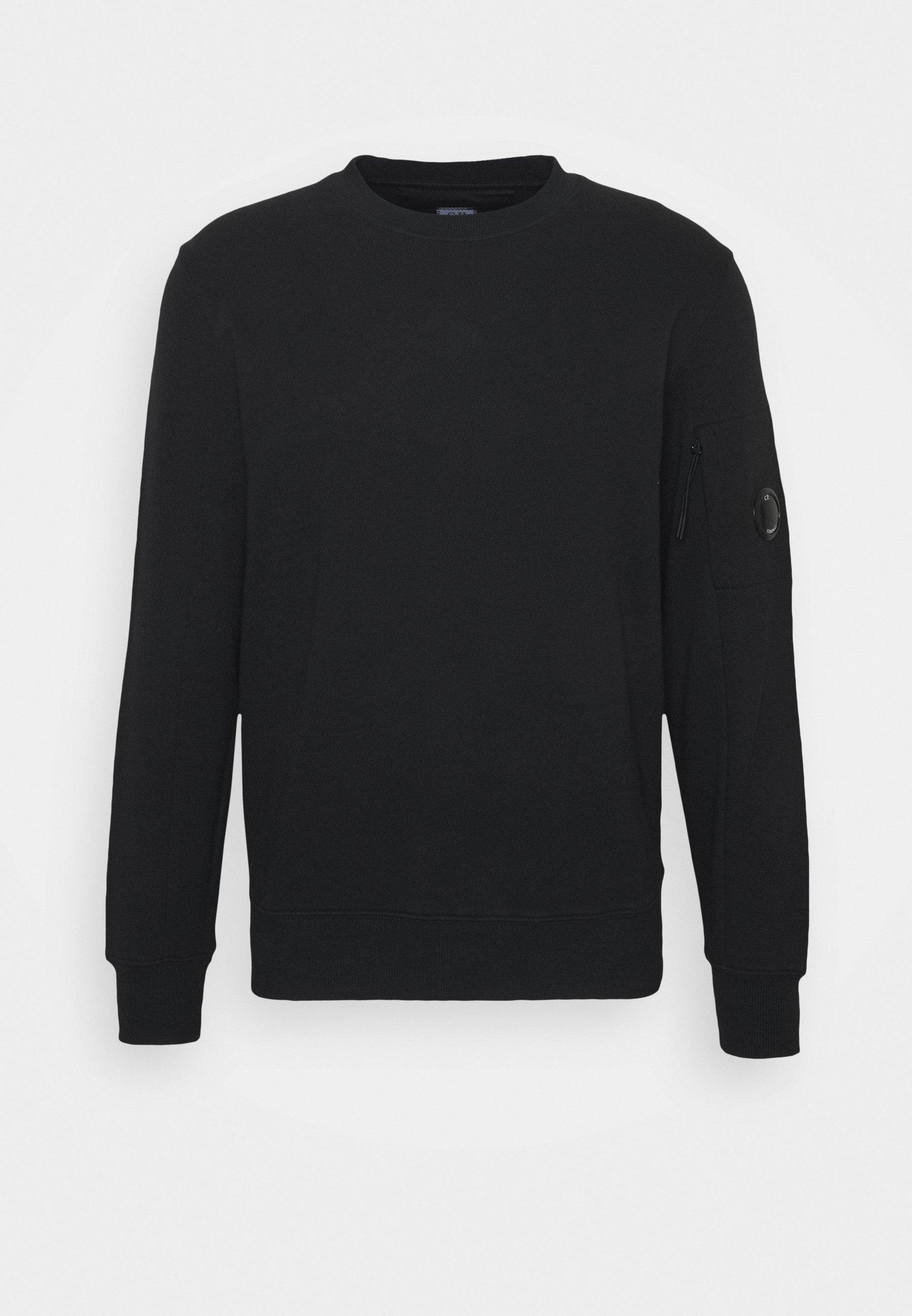 BLACK CREW NECK SWEATER | C.P. Company | Truien & Vesten