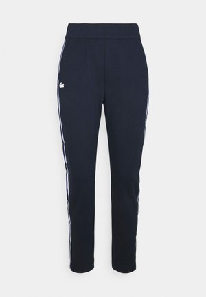TRACK PANT - Tracksuit bottoms - navy blue/white cosmic