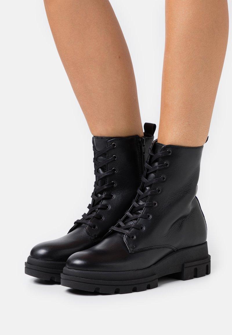 Dune London - PARQUE  - Platform ankle boots - black