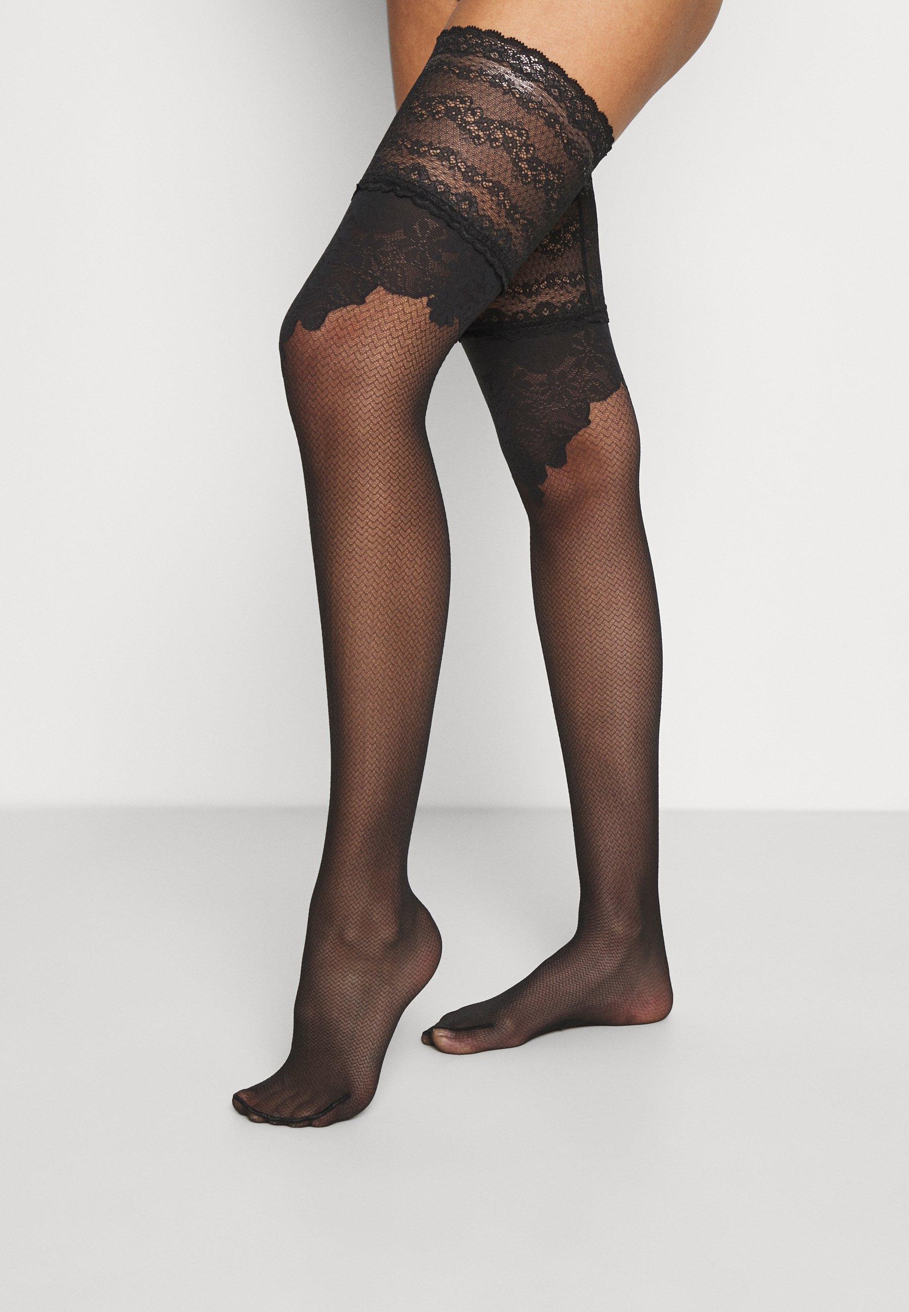 Women CEREMONIAL 20 DENIER STAY UPS TRANSPARENT MATT - Over-the-knee socks
