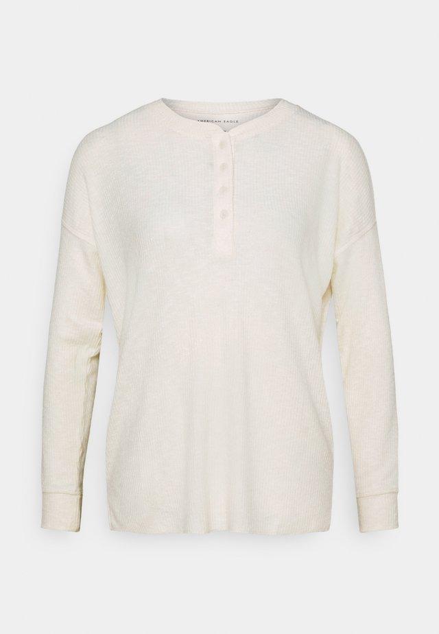 STITCHED HENLEY - Maglietta a manica lunga - tan