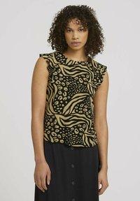 TOM TAILOR DENIM - Print T-shirt - black animal print - 0