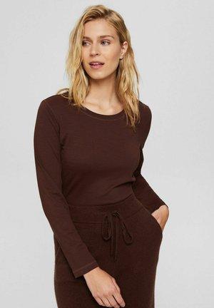LONGSLEEVE  - Long sleeved top - rust brown