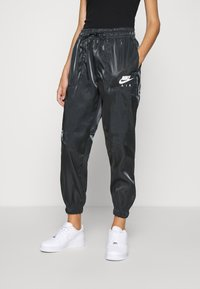 Nike Sportswear - AIR PANT SHEEN - Trainingsbroek - black/white - 0