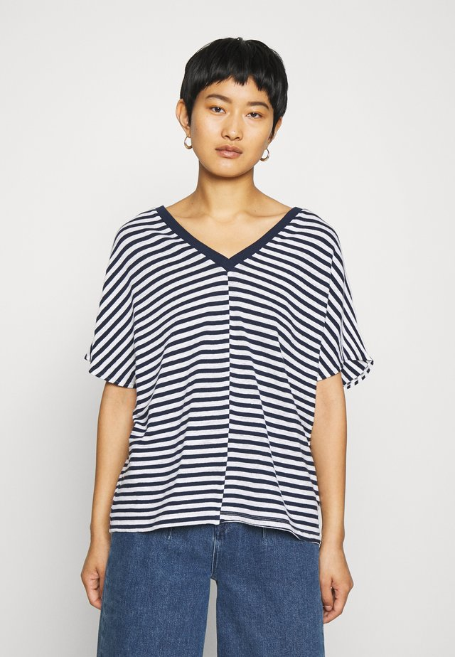 DROP - T-shirt con stampa - navy