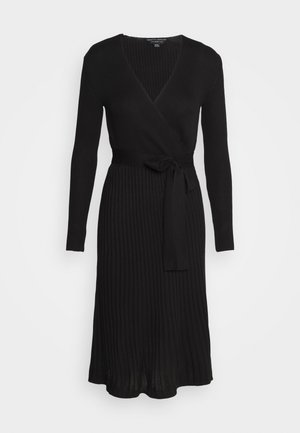 WRAP DRESS - Jumper dress - black