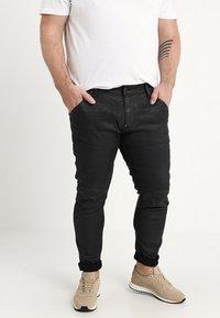 G-Star - 5620 3D SKINNY PM - Jeans Skinny Fit - loomer black rop stretch denim dk aged cobler - 0