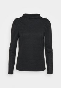 Vero Moda - VMSILVIA GLITTER  - Long sleeved top - black - 4