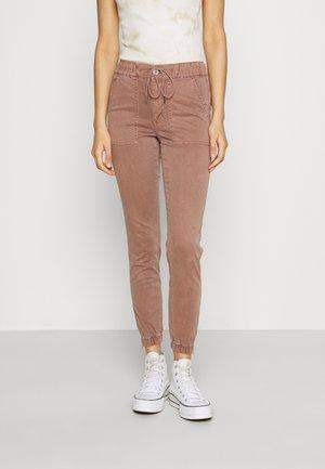 HIGH RISE  - Trousers - hazelnut marl