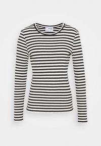 SLFANNA CREW NECK TEE  - Long sleeved top - black/snow white stripes