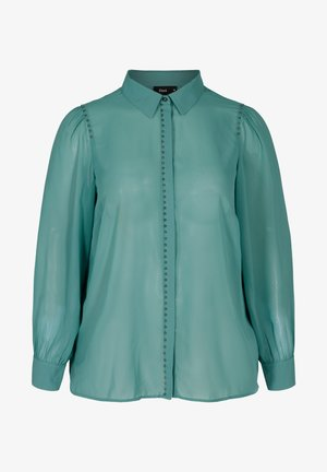 MIT NIETEN - Button-down blouse - dark green