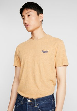 Jednoduché triko - burnt gold grit