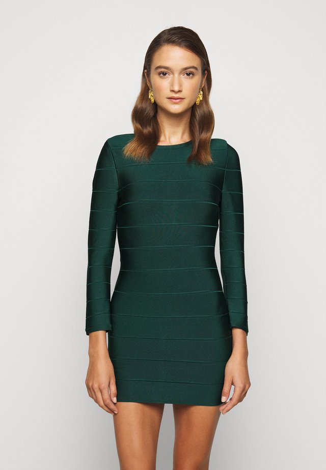 ICON LONG SLEEVE DRESS - Vestido de tubo - evergreen