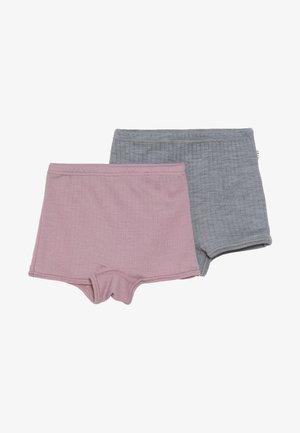 HIPSTER BASIC 2 PACK - Pants - old rose/light grey