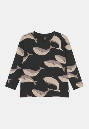 MINI WHALE UNISEX - Long sleeved top - off black