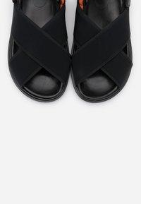 Marni - Sandals - black/fluo oranged - 5