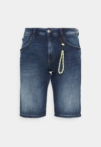 TOM TAILOR DENIM - REGULAR FIT - Denim shorts - used mid stone blue denim - 0