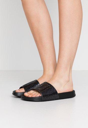 Pantofle - glitter black