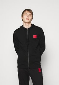 HUGO - DAPLE - Zip-up hoodie - black - 0