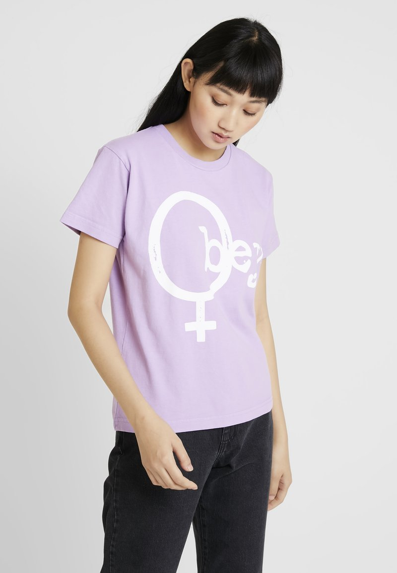 Obey Clothing - CHROMEOBEY - Print T-shirt - lavender