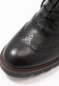 Marco Tozzi - LACE UP - Lace-ups - black antic - 2