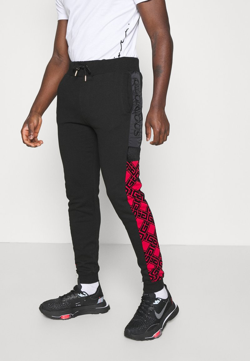 Glorious Gangsta - GALVEZ JOGGER - Pantaloni sportivi - black /red