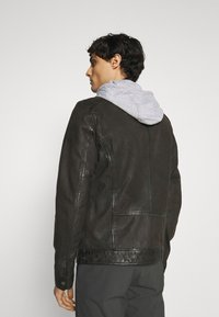Oakwood - PARK - Leather jacket - antic brown - 2