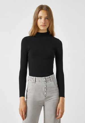 Pullover - mottled black
