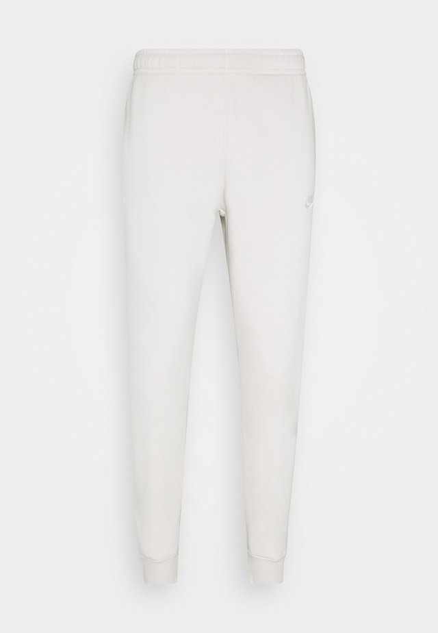 CLUB - Tracksuit bottoms - light bone/white