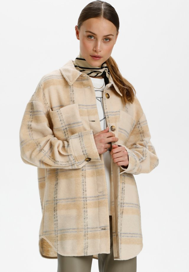 Manteau court - sandshell check