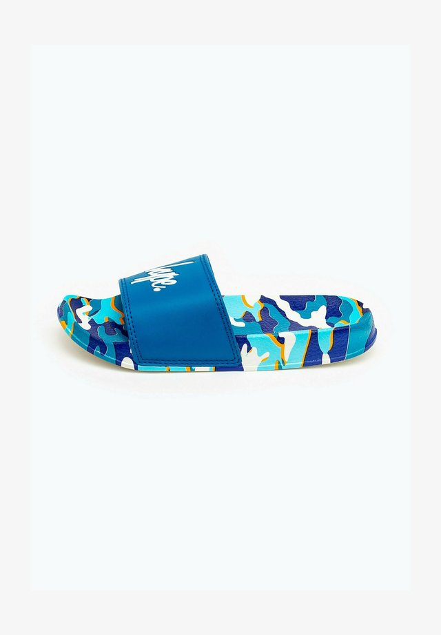 BLUELINE CAMO - Pool slides - blue