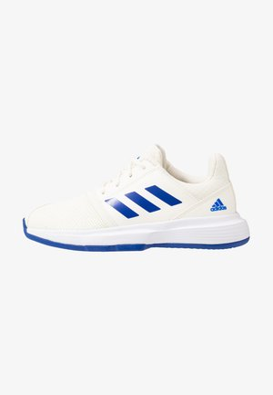 COURTJAM - Clay court tennis shoes - offwhite/royal blue/footwear white