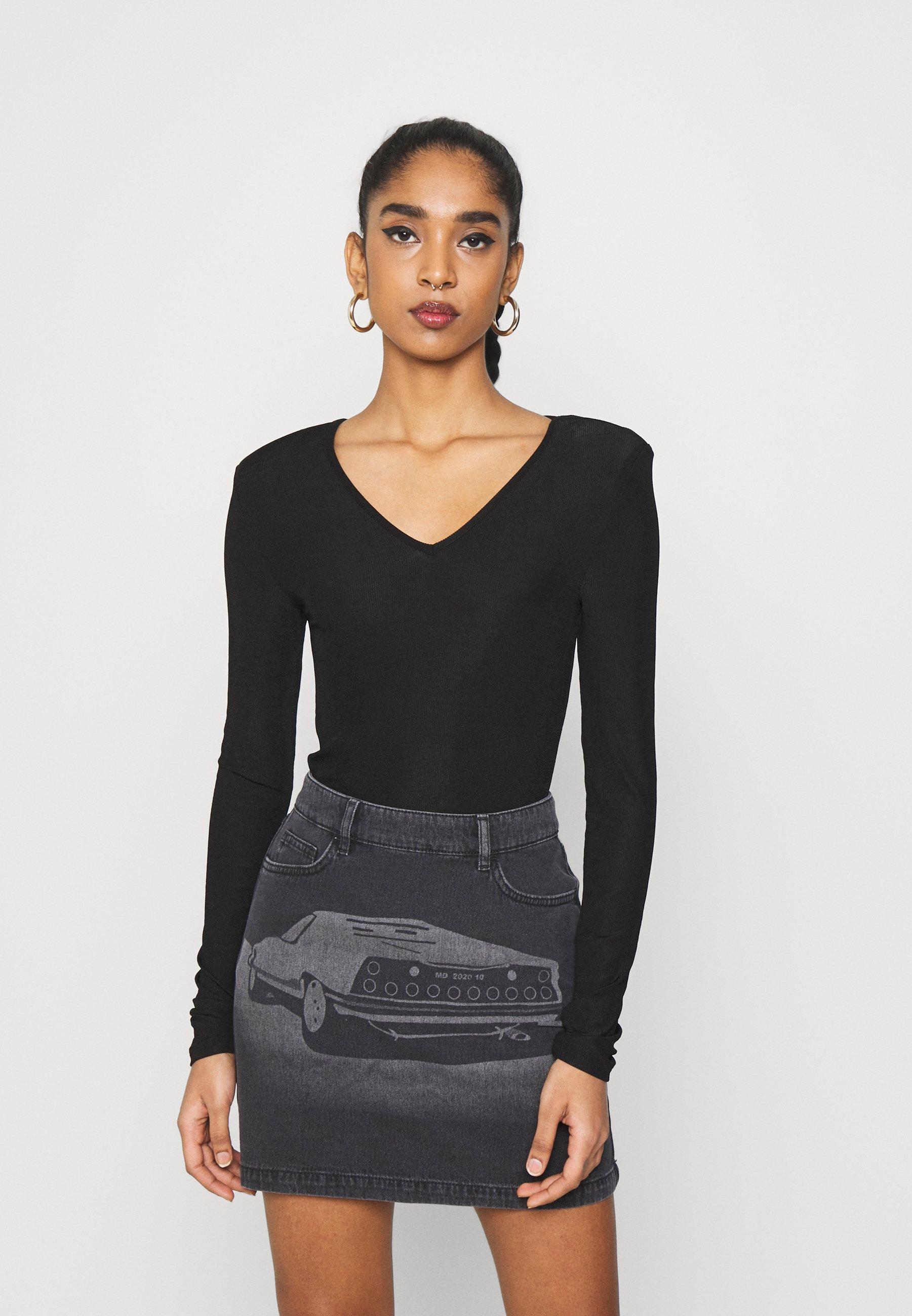 Women SHOULDER PAD BODY - Long sleeved top