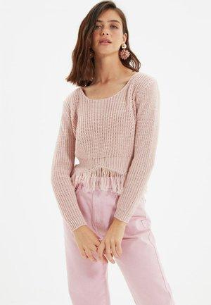 PARENT - Stickad tröja - pink