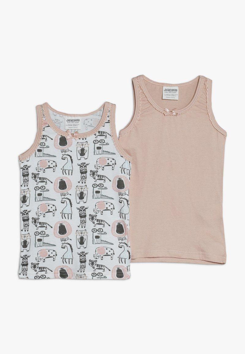 Jacky Baby - VEST ANIMALS 2 PACK - Undershirt - light pink
