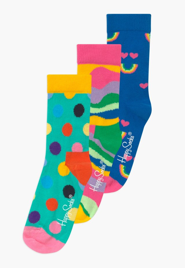 KIDS RAINBOW SMILE DOT 3 PACK - Socks - multi-coloured
