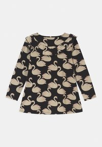 Lindex - LONG FRILL DETAIL SWAN PRINT - Long sleeved top - black - 1