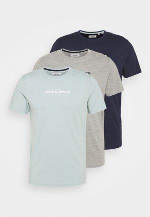 JACRAIN TEE 3 PACK - Camiseta de pijama - maritime blue/gray mist