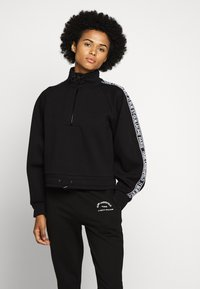 KARL LAGERFELD - DOUBLE CROPPED - Sweatshirt - black - 0