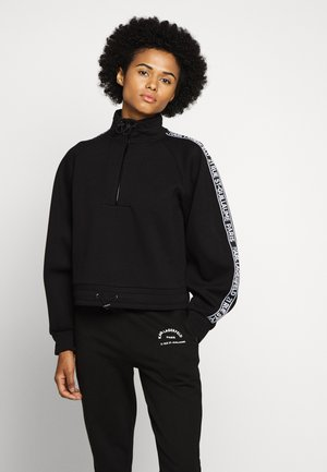 DOUBLE CROPPED - Sweatshirt - black