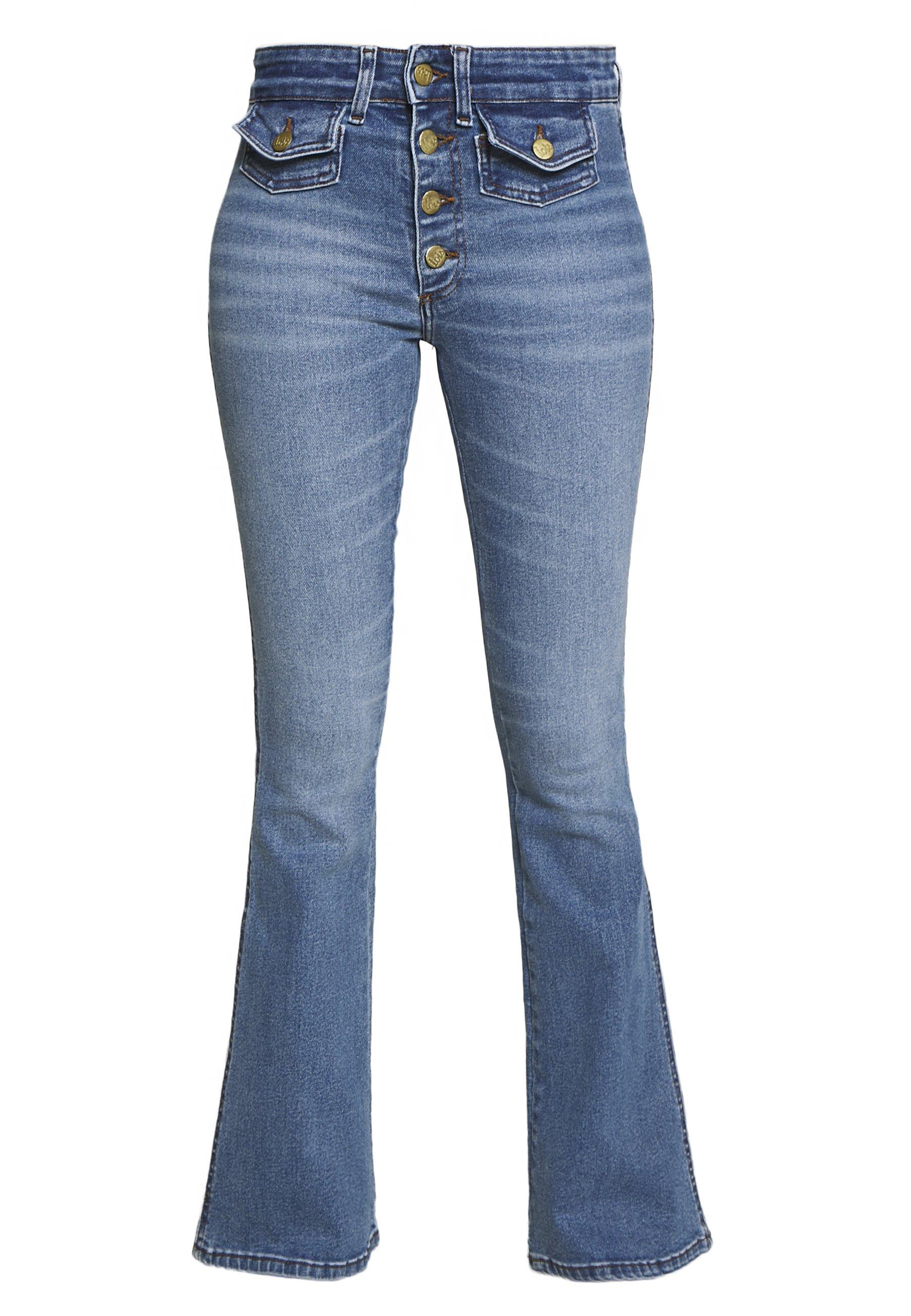 LOIS Jeans YOKO - Flared jeans - stone denim