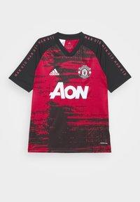 adidas Performance - MANCHESTER UNITED AEROREADY FOOTBALL UNISEX - Sports shirt - reared/black - 0