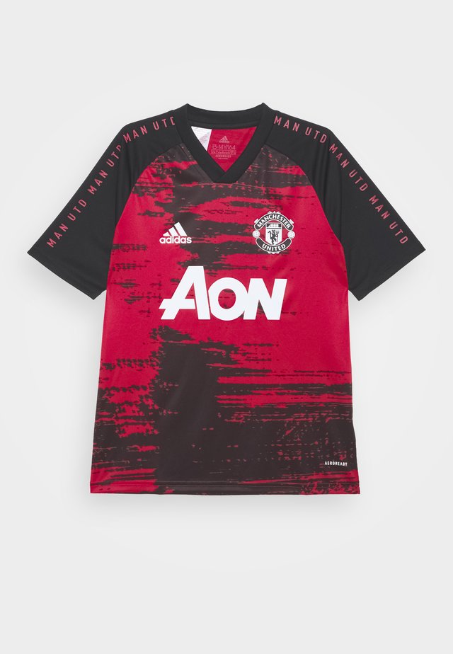 MANCHESTER UNITED AEROREADY FOOTBALL UNISEX - Sports shirt - reared/black
