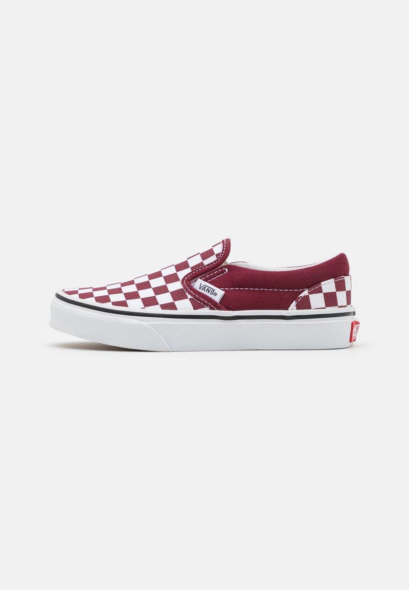 Vans - UY CLASSIC SLIP-ON - Trainers - pomegranate/true white