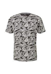 TOM TAILOR - Print T-shirt - dark grey leaf design - 1