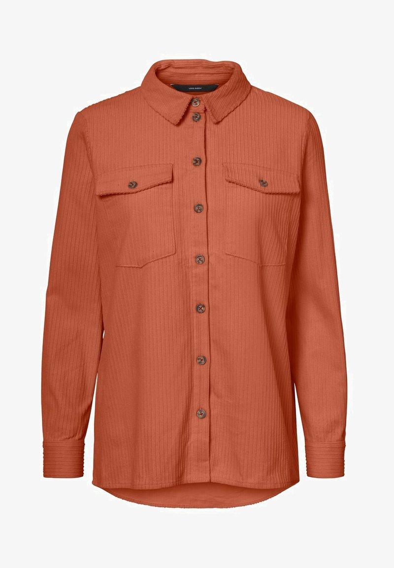 Vero Moda - VMEFFY - Button-down blouse - bronze