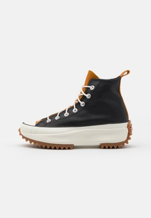 RUN STAR HIKE - Sneakers alte - black/saffron yellow/egret