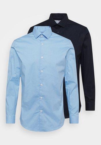SLHSLIMBROOKLYN SHIRT 2 PACK - Finskjorte - light blue/navy blazer