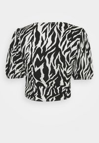 Missguided - ZEBRA RUCHED BLOUSE - Blouse - white - 1