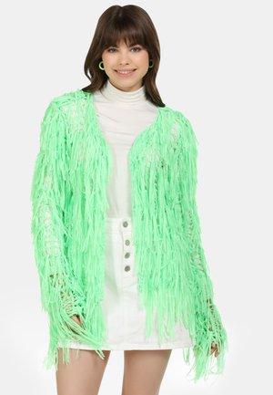Cardigan - neon grün
